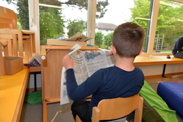 Basteln mit einer Zeitung