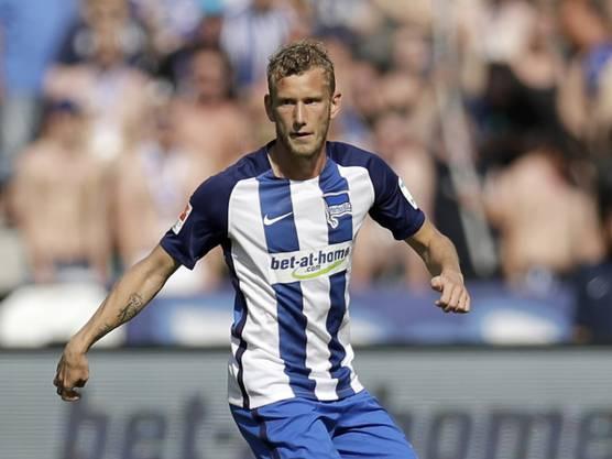 Es ist Fabian Lustenberger von Hertha Berlin. Ab nächster Saison spielt er bei den Young Boys in Bern.