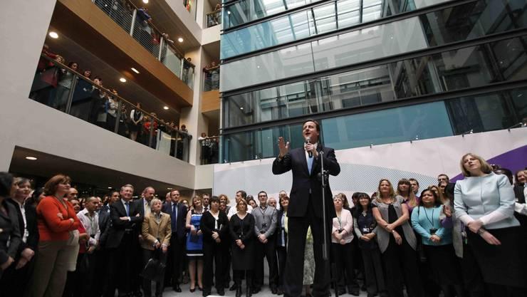 Premierminister David Cameron in einer Rede am Donnerstag in London.