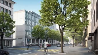 Visualisierung der Neugestaltung der Lagerstrasse