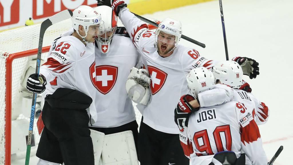 Die Schweizer Eishockey Nationalmannschaft spielt am Samsta gegen Russland.
