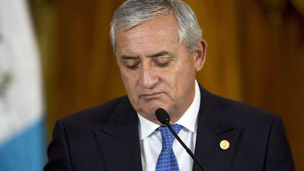 Gegen ihn kann nun ermittelt werden: Guatemalas Präsident Otto Pérez Molina