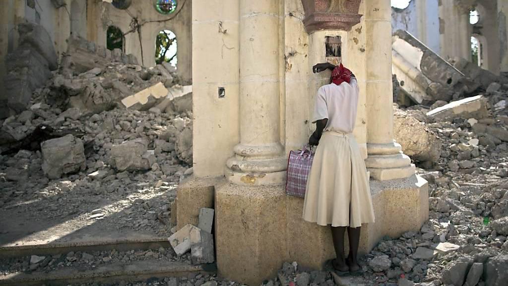 Wiederaufbau in Haiti hilft Existenz der Bevölkerung zu sichern