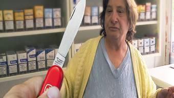 Die Grenchner Kioskverkäuferin Erika Paci wurde von einem Unbekannten mit einem Messer bedroht.