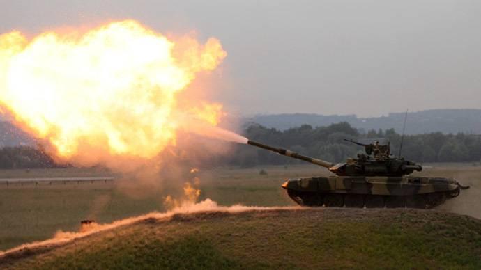 Jeder Panzer schoss mit einer anderen Farbe.