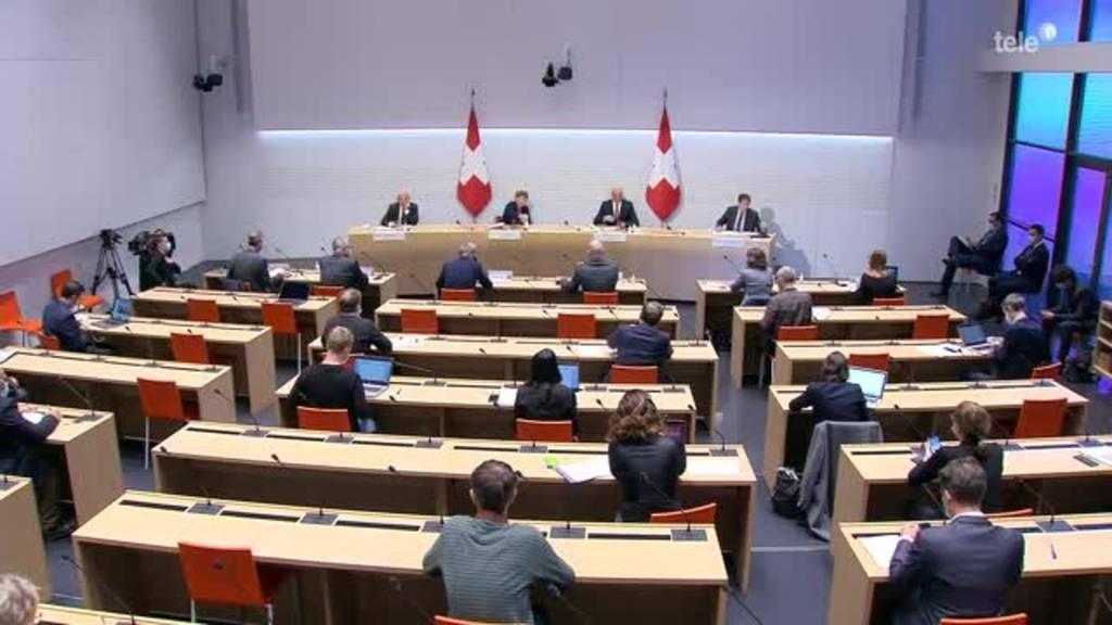 Der Bundesrat informiert über den aktuellen Stand und Entscheide.