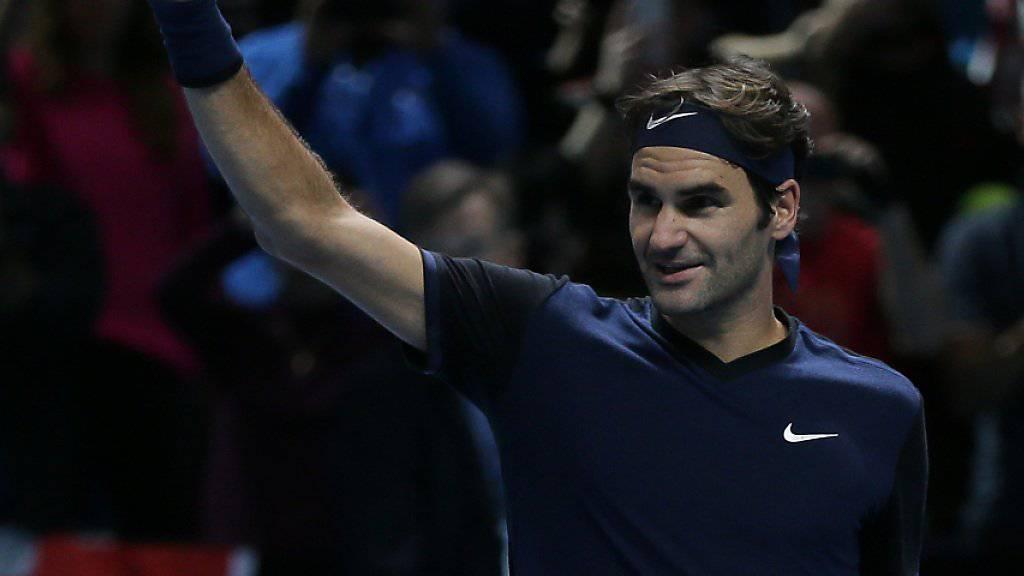 Roger Federer gelang an den ATP-Finals in London ein Auftakt nach Mass