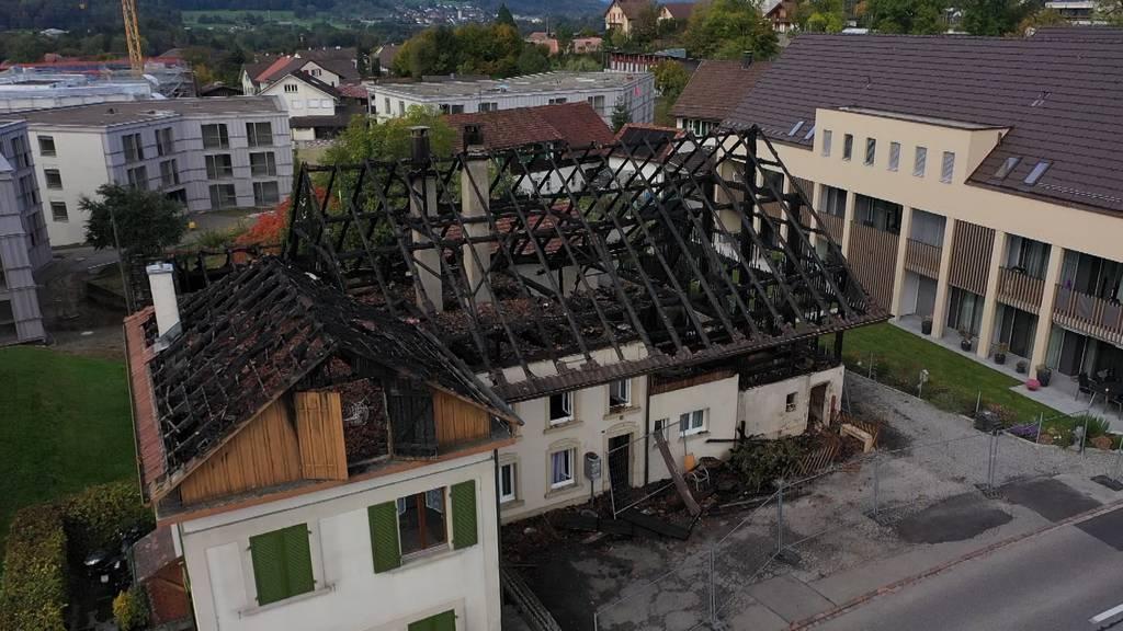 Grossbrand Stetten: Bewohner verlieren Hab und Gut