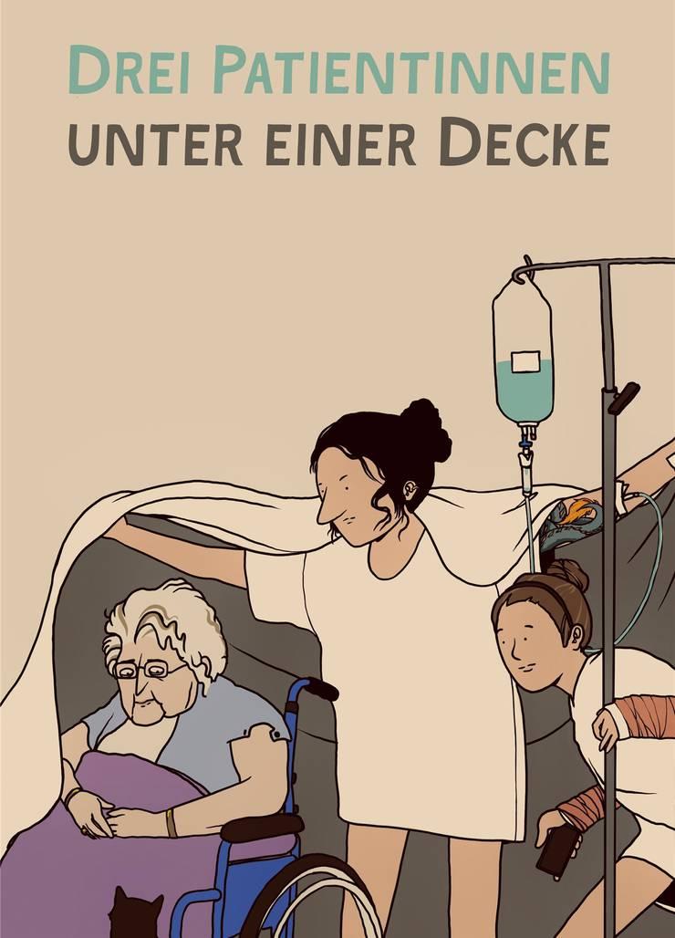 Die Hauptfiguren aus Simon Libsigs Spital-Serie «Drei Patientinnen unter einer Decke»: Lilly, Estelle und Marina .