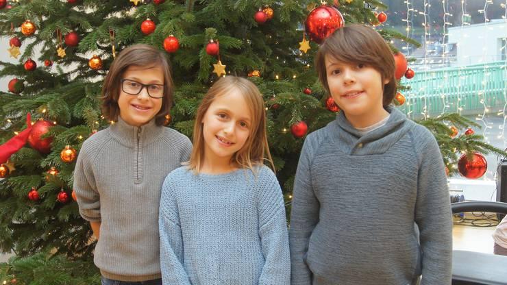 Antonio, Marie und Nicola musizierten.