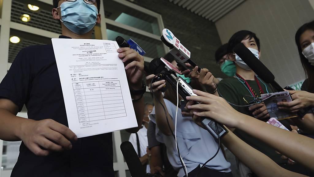 Hongkonger Aktivist Joshua Wong kandidiert bei Parlamentswahl