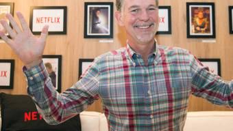 Netflix-Gründer Hastings anlässlich des Netflix-Starts in Zürich