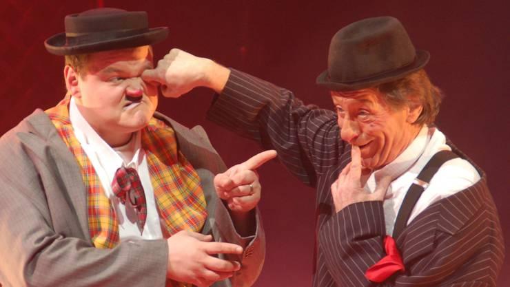 Erstmals gemeinsam im Circus Nock tritt das Clown-Duo Gaston (rechts) und Roli auf.  Werner Hostettler