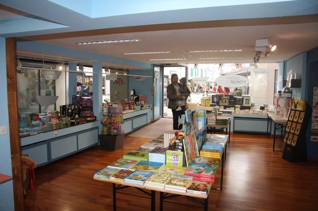 Der Popup Store mit Blick auf die Gurzelngasse.