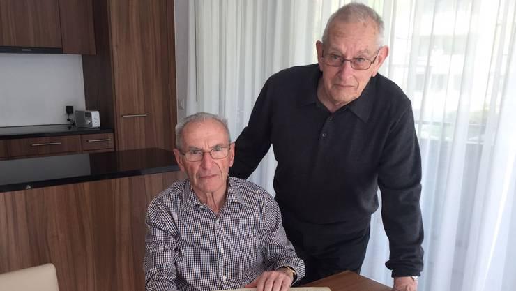 Fritz Bürgi und Fritz Bürgi sind beide im Fritzenverein Erlinsbach (links der aktuelle Präsident mit 78 Jahren, rechts der ehemalige mit 86 Jahren).