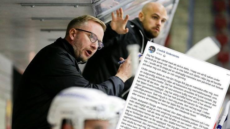 Fredrik Söderström macht seine unangenehme Geschichte auf Facebook öffentlich und hofft damit, dass die Angelegenheit ein Ende findet.