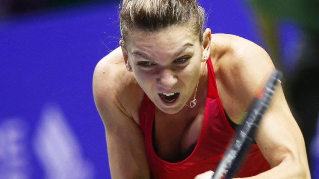 Simona Halep beginnt die WTA-Finals mit einem Sieg