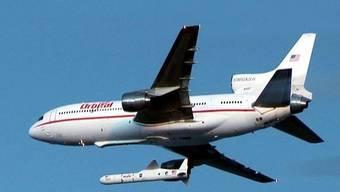 Ein Jet brachte die Trägerrakete näher an den Weltall