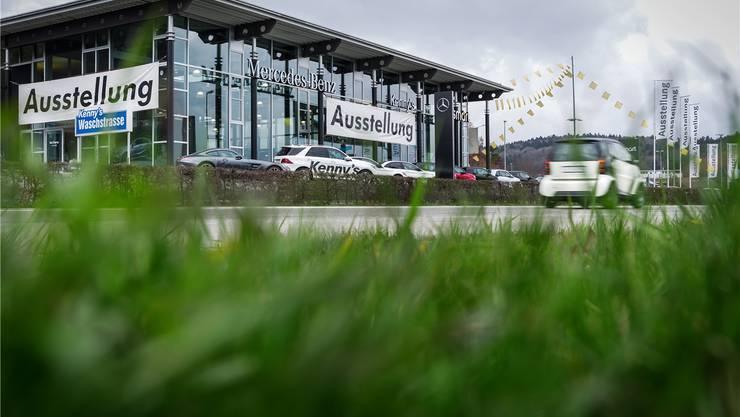 Hier fand der missglückte Überfall statt: Kenny's Auto-Center in Wettingen. Chris Iseli