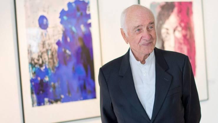 """Armin Mueller-Stahl ist nicht nur Schauspieler, sondern auch Maler. Im September 2015 zeigte er in Hamburg eigene Werke in der Ausstellung """"Bilderwelten"""". (Archiv)"""