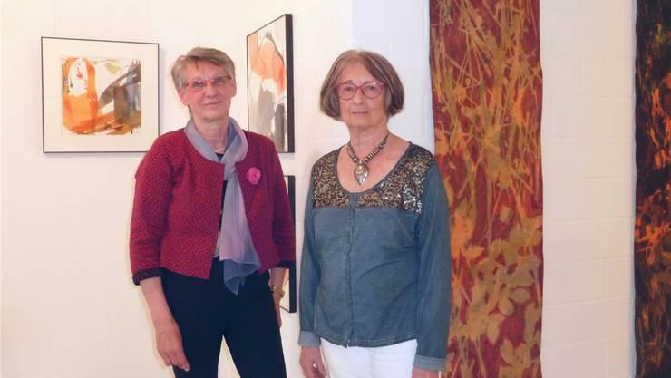 In der Galerie Artesol zeigen Rose-Marie Möschinger (l.) und Claire Pagni ihre neuesten Arbeiten.