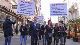 Demonstration von Sexarbeiterinnen in Basel