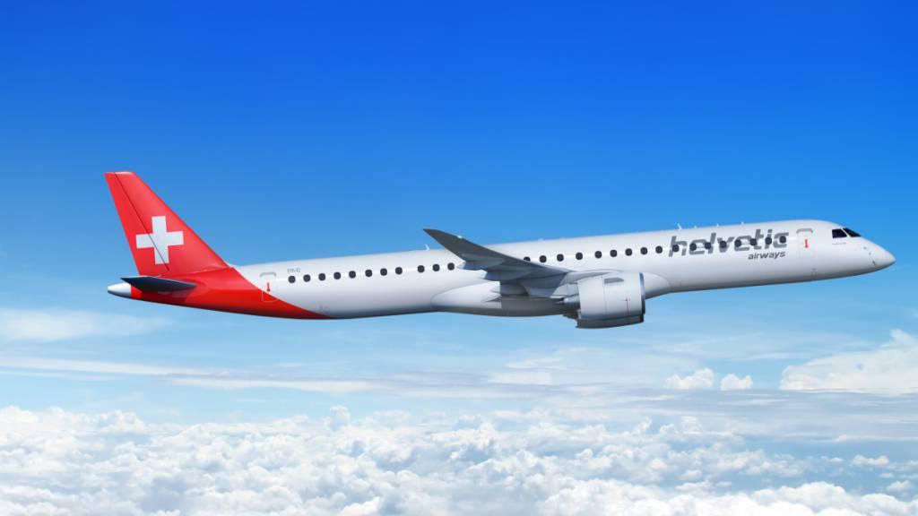 Helvetic erhält erste Maschine der grösseren Embraer-Serie