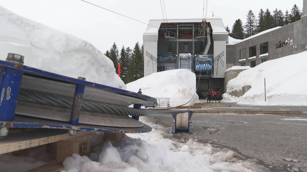 Säntis-Schwebebahn ersetzt 2.5 Kilometer langes Seil