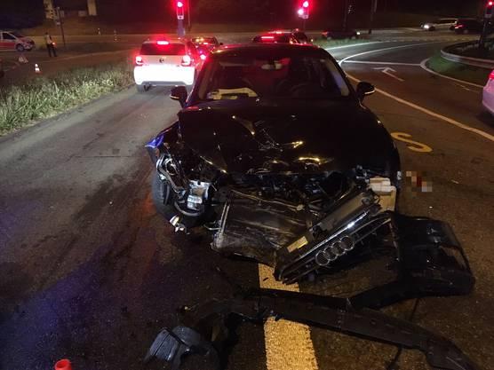 Die 38-jährige Lenkerin des Audi und der 40-jährige Mercedesfahrer wurden zur Kontrolle ins Spital überführt.