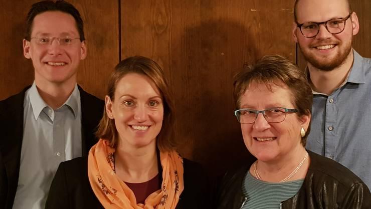Von links nach rechts: Michael Ochsenbein, Tamara Mühlemann Vescovi, Marie Theres Widmer, Robin Schmid