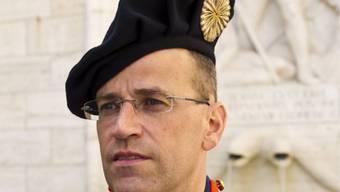 Der scheidende Kommandant der Schweizergarde Daniel Anrig