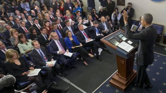 Letzte Medienkonferenz vor den Ferien: Barack Obama.