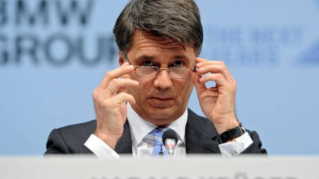 Tritt bei seiner Strategie nicht auf das Gaspedal: BMW-Chef Harald Krüger an der Bilanzmedienkonferenz.