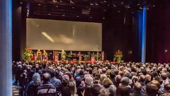 Bis zu 800 Besucher finden pro Anlass im Campussaal Platz.az Archiv