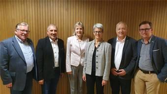 Von links: Kurt Bloch, Daniel Nussbaumer, Brigit Wyss, Verena Meyer, Peter Brotschi und Patrick von Däniken.
