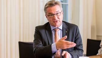 Robert Rhiner, CEO am Kantonsspital Aarau, bedauert das Scheitern der Basler Spitalfusion. Archiv