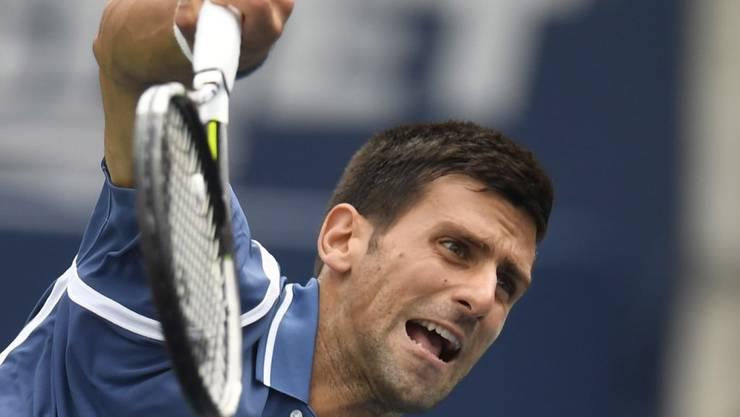 Mit Power zum sicheren Sieg: Novak Djokovic