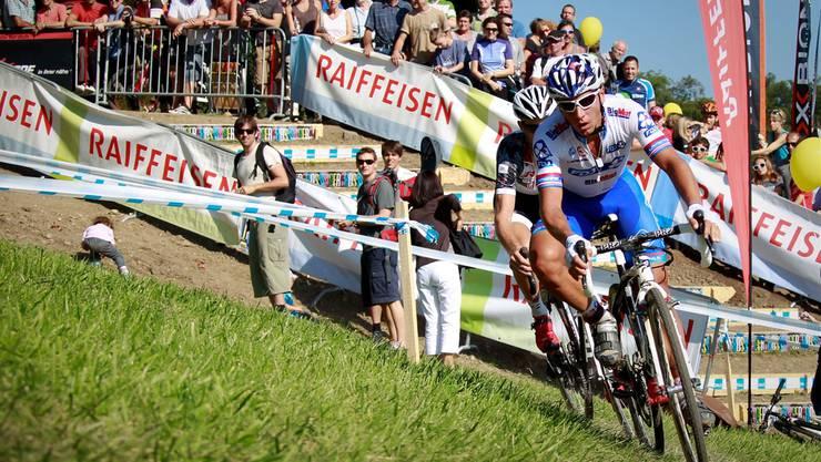 Rund 4000 Zuschauer verfolgten im Herbst 2012 auf der Baldegg die Fahrten der Radquer-Profis (Archivbild).