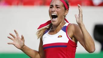 Monica Puig jubelt über die sichere Silbermedaille. Gibts am Samstag sogar erstmals olympisches Gold für den Karibikstaat?