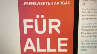 Das Motto «Lebenswerter Aargau» steht im Zentrum der SP-Wahlkampagne