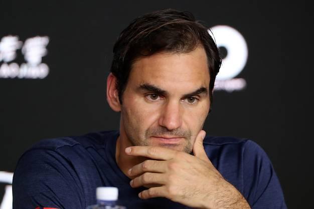 Federer nach der Niederlage an der Pressekonferenz.