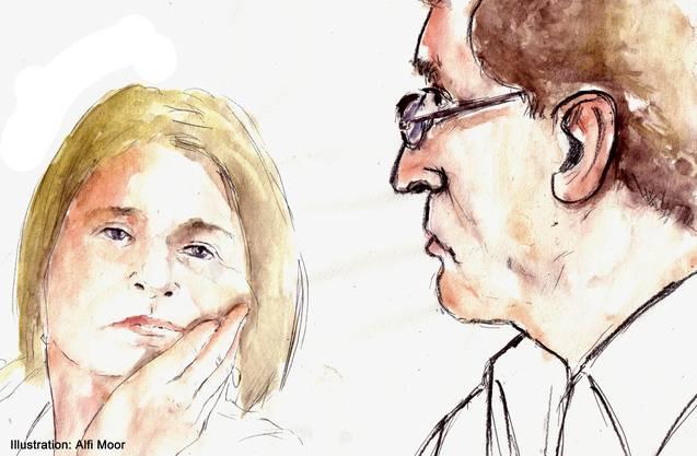 Die Eltern von Lucie bei der Verhandlung