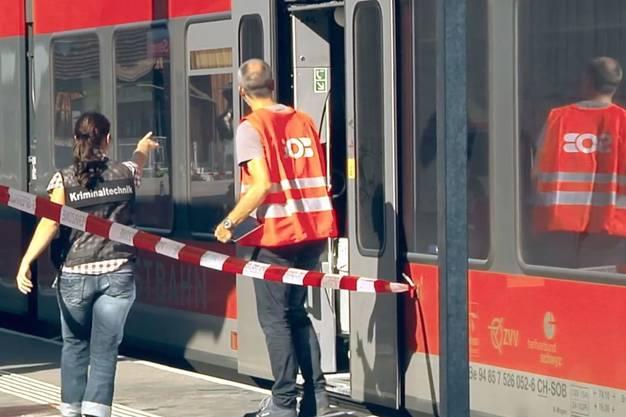 Durch die Gewalttat im Regionalzug der Südostbahn (SOB) waren eine 34-jährige Frau und der 27-jährige Täter ums Leben gekommen.