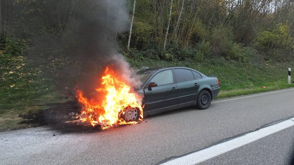 Das Auto erlitt Totalschaden.
