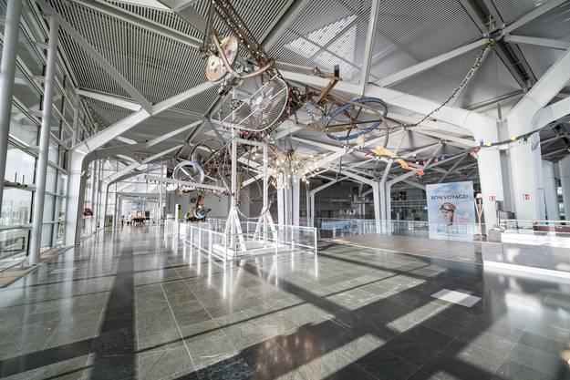 Der gesamte Euro-Airport ist menschenleer.