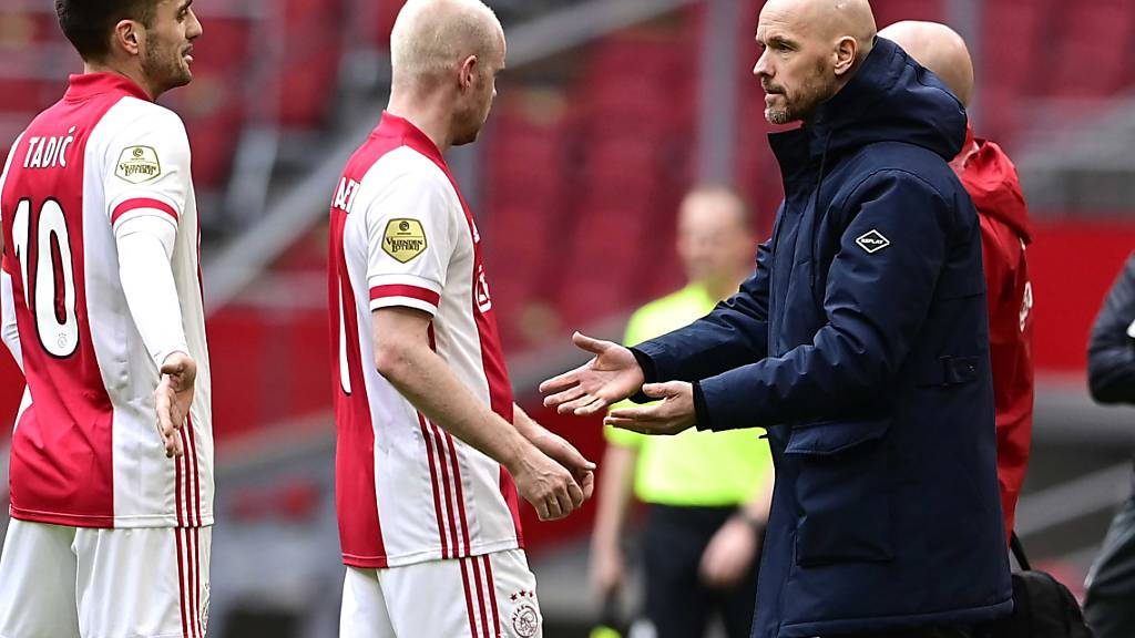 Ajax Amsterdam, die Mannschaft von Trainer Erik ten Hag (rechts), präsentiert sich in den letzten Monaten in hervorragender Form