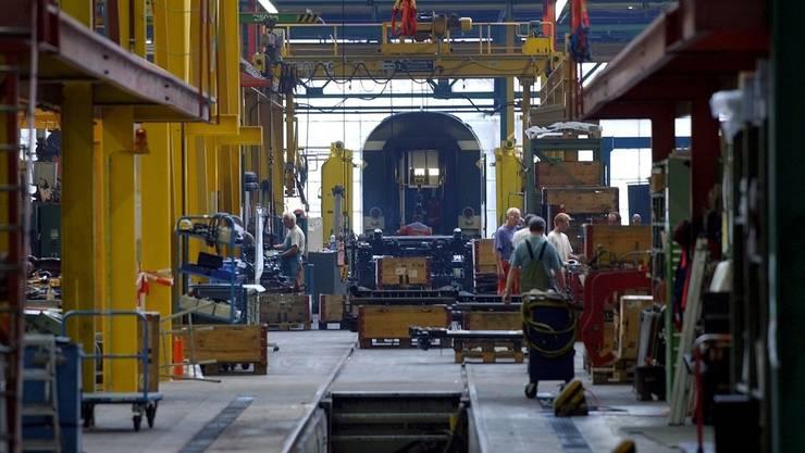 Blick ins SBB-Industriewerk in Olten (Archiv)