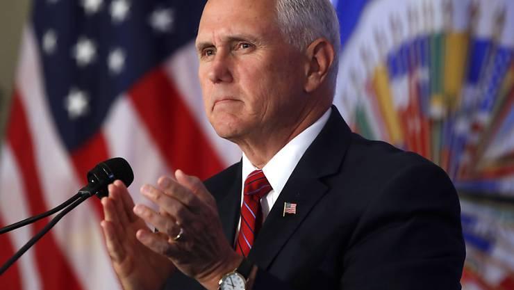 US-Vizepräsident Mike Pence bei seiner Rede an der Versammlung der Organisation Amerikanischer Staaten am Montag in Washington.