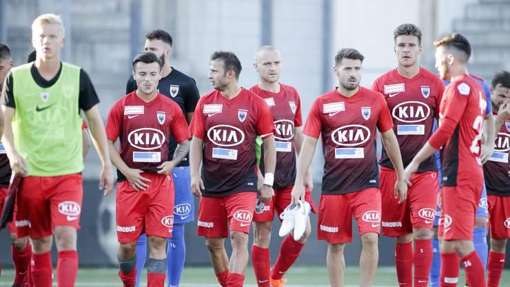 Was ist nur mit den Spielern des FC Aarau los?
