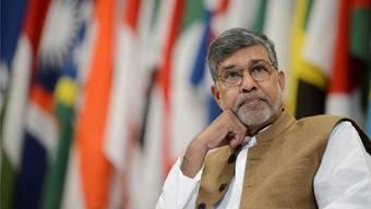 «Medien sind eine wichtige Waffe im Kampf gegen Kindersklaverei», sagt Kailash Satyarthi über seine Arbeit.Martial Trezzini/Keystone